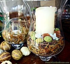 Welcome Fall Candle Centerpiece