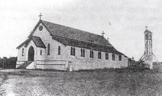 First Church/School built on the site of the present St Patrick's Cathedral in 1863