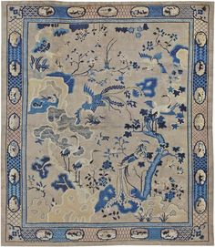 Antique Chinese Oriental Carpets #44479  http://nazmiyalantiquerugs.com/antique-rugs/chinese/