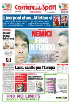 primapagina del Corriere dello Sport Conte e Garcia: nemici fino in fondo http://goo.gl/WhvCWS