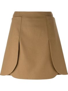 Shop Tory Burch curved panels A-line skirt in Luciana from the world's best inde. Cute Skirts, A Line Skirts, Short Skirts, Mini Skirts, Tory Burch, Brown Skirts, Winter Skirt, Mode Style, Skirt Outfits