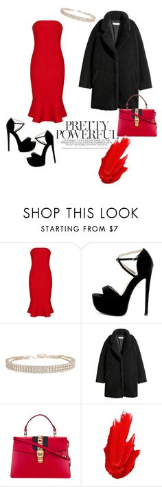 """Lady in Red 😘"" by ttoria ❤ liked on Polyvore featuring Humble Chic, Gucci and Maybelline"