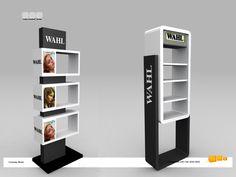 Columna Wahl - Exhibidor para productos de peluquería. Diseño y producción de exhibidores, displays y stands