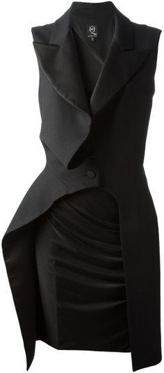 McQ - Black Ruffle Detail Dress - Lyst 3f73aaea2