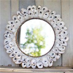 Kalalou Oyster Shell Mirror