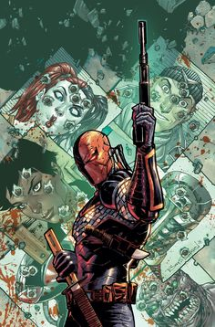 Deathstroke # 11 Cover by Tony S Daniel released by DC Comics in October 2015 Arte Dc Comics, Marvel Comics, Heros Comics, Dc Heroes, Dc Deathstroke, Deathstroke The Terminator, Deadshot Comics, Comic Book Artists, Comic Books Art