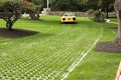 Basic Driveway Materials Regarding Grass Driveway Pavers Decorating Driveway Paving Stones, Permeable Driveway, Grass Pavers, Cobblestone Driveway, Concrete Driveways, Driveway Landscaping, Driveway Ideas, Gravel Driveway, Brick Pavers