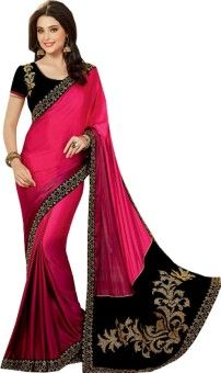Shop Avenue Embriodered Fashion Georgette Sari: Sari