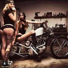 Hot Motorcycles and Hot Cars Trucks And Girls, Car Girls, Lady Biker, Biker Girl, Biker Photography, Bike Couple, Chicks On Bikes, Vw Mk1, Pin Up