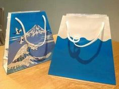 富士山の紙袋