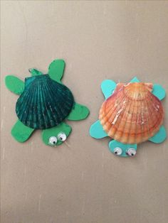 Cute turtle craft made with sea shells and foam, easy for kids to make and fun t. - Cute turtle craft made with sea shells and foam, easy for kids to make and fun to do! Source by jac - Daycare Crafts, Toddler Crafts, Preschool Crafts, Sea Crafts, Crafts To Make, Crafts For Kids, Seashell Crafts Kids, Craft Kids, Turtle Crafts
