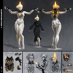 Female Character Design, Character Concept, Character Art, Fantasy Inspiration, Character Inspiration, Warframe Art, Robot Concept Art, Monster Concept Art, Arte Robot