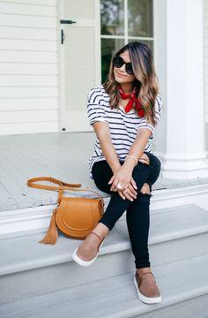 Stripes and bandanas.