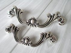 Shabby Chic Dresser Pull Drawer Pulls Door Handles Silver Black French Country Vintage Furniture Cabinet Knobs Pull Handle-in Handles & Knobs from Home Improvement on Aliexpress.com | Alibaba Group