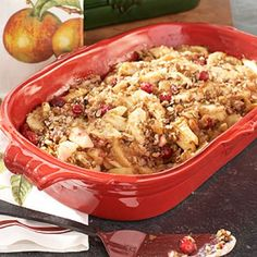 Recipes | Apple-Cranberry Crisp with Oatmeal Topping | Sur La Table
