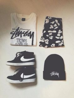 black and white stussy shirt - Google Search