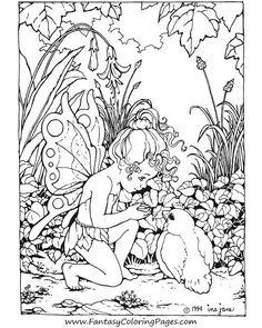 Detaillierte Fairy Malvorlagen für Erwachsene 2910 32 ausmalbilder kostenlos
