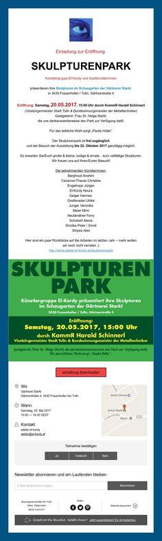 Einladung zur Eröffnung  SKULPTURENPARK
