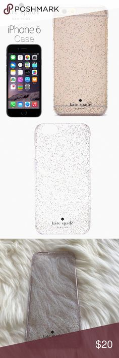 NEW Kate spade glitter iPhone 6/6S Plus case New in box, never used. Box is a bit beaten up from sitting in my drawer. kate spade Accessories Phone Cases