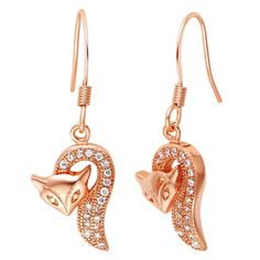 Find More Drop Earrings Information about Drop Earrings for Women 925 Sterling Silver Fox Rose Gold Plated Jewelry Fashion Ethnic Long Earring Wholesale Ulove R577 Yumeng,High Quality earring set,China earrings dance Suppliers, Cheap earrings beautiful from ULove Fashion Jewelry Store on Aliexpress.com