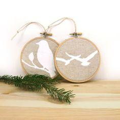 Christmas tree ornaments Rustic decor Bird by ClassicByNature, $18.00