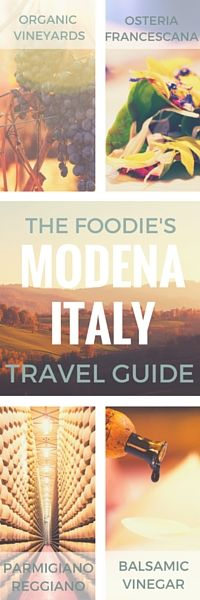 A Complete Culinary Travel Guide to Modena, Italy — Type A Trips   No visit to Italy is complete without traveling to the culinary epicenter of Modena in Emilia Romagna. In this guide I'll give you all the info you need to plan the perfect visit, including where to stay, where to go for parmesan factory tours and traditional balsamic vinegar tastings, and of course all the insider info for dining at Osteria Francescana - the #1 restaurant in Italy and the #2 restaurant in the world.