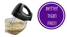 amilton Beach Brands Inc. ® Hand Mixer with Snap-On Case for  FREE + $3 MoneyMaker! (Reg. 21.99) - http://mypersonalshopper.net/amilton-beach-brands-inc-hand-mixer-with-snap-on-case-for-free-3-moneymaker-reg-21-99/