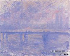 Claude Monet Charing Cross Bridge oil painting reproductions for sale