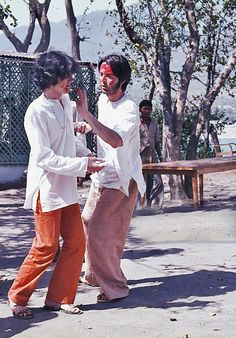 1968 -  George Harrison and Paul McCartney.                                                                                                                                                                                 More