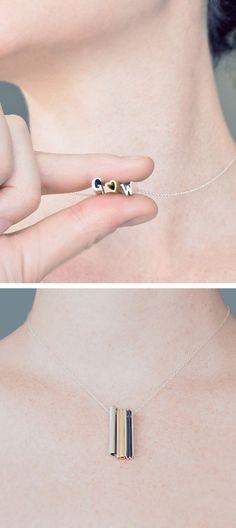 Secret message necklace. So cute!