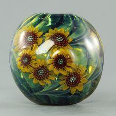 Lampwork Tutorial: How to make sunflower murrini by ikuyoglassart