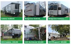 Browse our selection of new Bridgeview and Catalina models for sale, and our used RVs for sale set up on seasonal sites at Whistle Bare Campground, Landings Campground and Country Gardens RV Park. Used Rvs For Sale, Make Dreams Come True, Woodland Park, Models For Sale, Luxury Camping, Rv Parks, Recreational Vehicles, Invite, Budget