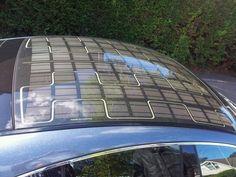 Solar roof car, zonnepanelen in dak van auto