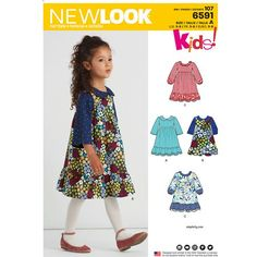 275dcdfd0a16 New Look Sewing Pattern 6591 Children s Dress New Look Dress Patterns