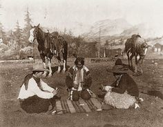 A Cowboy, Indian and Mexican playing cards. 1908   (I love this photo)