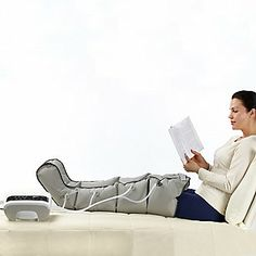 Dr. Life Luxury Leg Therapy System — simply zip on to improve circulation and relieve painful, swollen legs and feet!