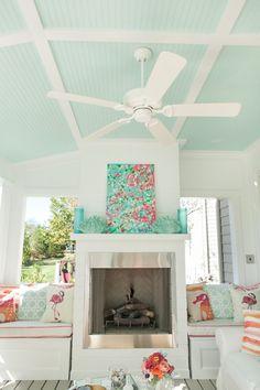 House of Turquoise: Coastal Beach House Coastal Living Rooms, Coastal Cottage, Coastal Decor, Coastal Bedrooms, Coastal Style, Beach Living Room, Coastal Bedding, Modern Coastal, Coastal Farmhouse