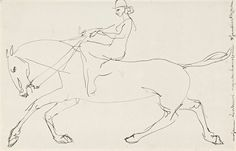 Henri Gaudier-Brzeska (1891 – 1915, French), Equestrienne, 1913. Pen and ink on paper, 25.0 x 37.0 cm.