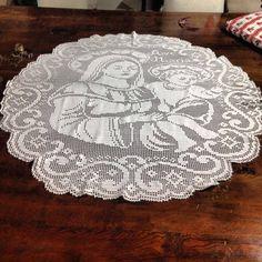 Centro de mesa em crochê filé | MEU MUNDO CRAFT