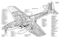 Bell P-59 Airacomet Technical Illustration, Technical Drawing, Aircraft Structure, Aircraft Design, Cool Inventions, Aviation Art, Cutaway, Military Aircraft, World War Ii