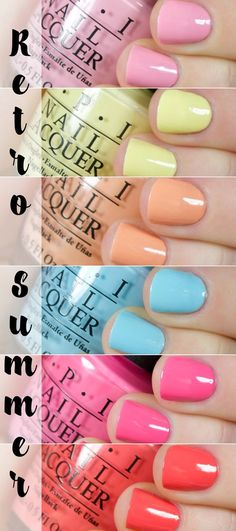 OPI Retro Summer Collage