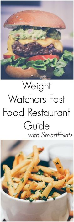 Weight Watchers Fast Food Restaurant Guide