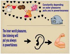 Inner pleasures contra outer pleasures