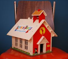 Vintage 1970s Fisher Price Play Family School
