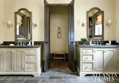 countertops that go with slate colored bathroom palette