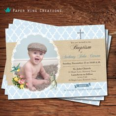 First communion printable digital invite. Baptism Invitations, Printable Invitations, Party Invitations, Baby Girl Baptism, Baby Christening, Free Thank You Cards, First Communion, Your Cards, Boho Chic