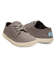 Look what I found on #zulily! Ash Gray Canvas Paseo Sneaker #zulilyfinds