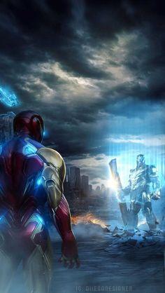 vs Ironman Endgame iPhone by fullhdwallpapers Marvel Films, Marvel Dc Comics, Marvel Characters, Marvel Heroes, Marvel Avengers, Thanos Marvel, Iron Man Art, Iron Man Wallpaper, Iron Man Avengers