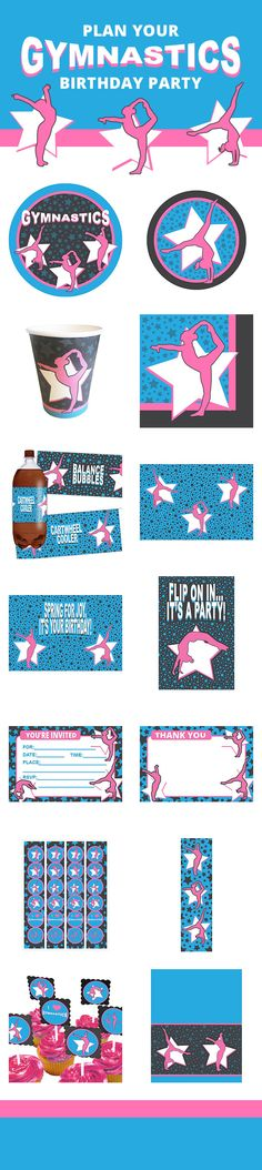 Our exclusive gymnastics party supplies features a full line party items including tableware, favors, decorations, and more. Check them out here: http://www.discountpartysupplies.com/girl-party-supplies/gymnastics-party-supplies?utm_source=&utm_medium=&utm_content=gymnastics_party_supplies&utm_campaign=Gymnastics_Promoted_Pin