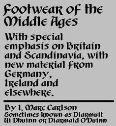 Footwear of the Middle Ages